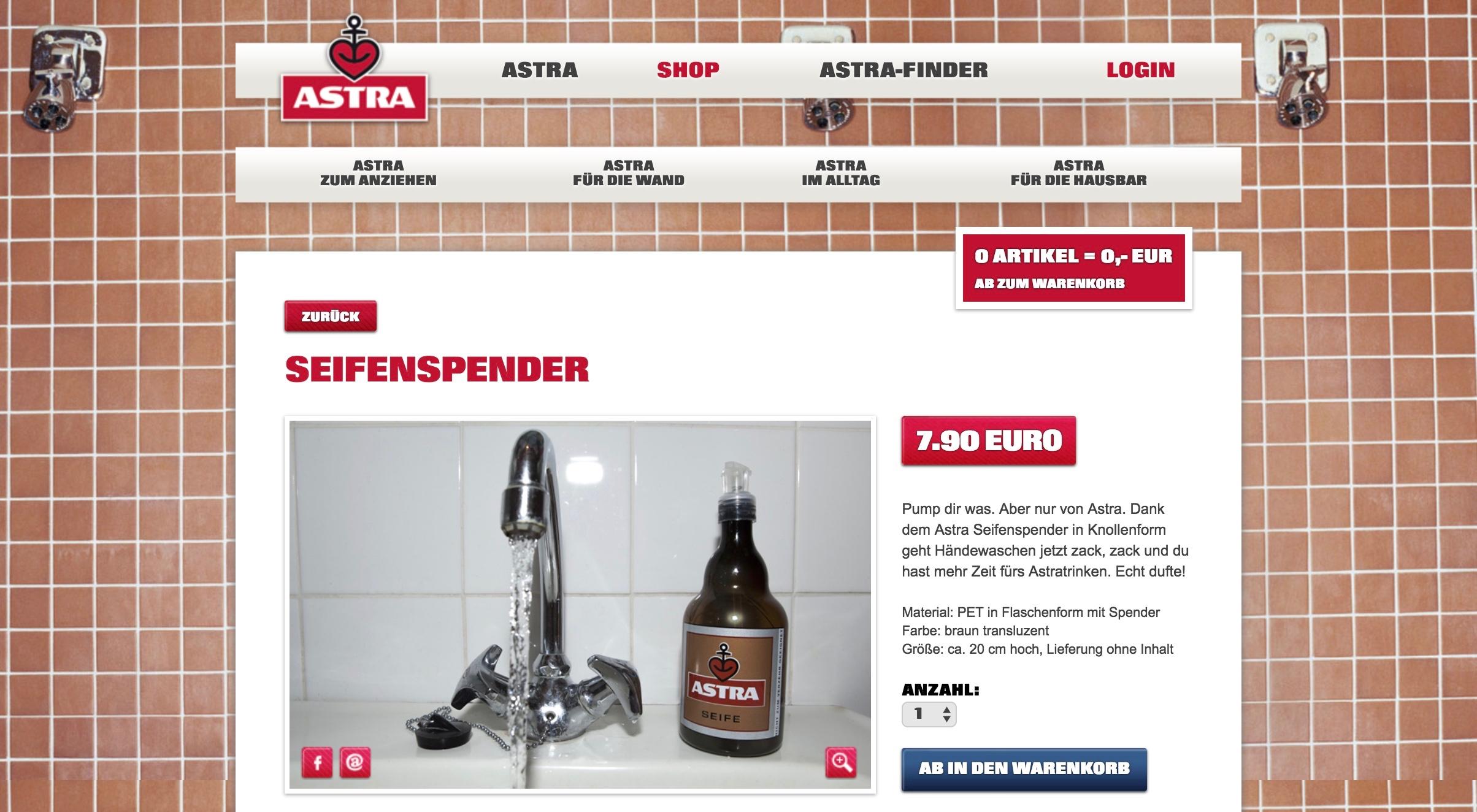 Astra Online Shop Seifenspender